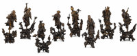 A Complete Set of Chinese Carved Root-Wood Taoist Immortals Unknown maker, Chinese 19th century, Qing Dynas