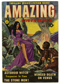 Amazing Adventures #1 (Ziff-Davis, 1950) Condition: VG+. Painted cover. Wally Wood, Alex Schomburg, and Murphy Anderson...