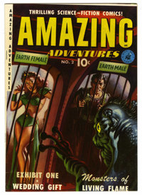 Amazing Adventures #2 Mile High pedigree (Ziff-Davis, 1951) Condition: VF+. Painted cover. Alex Schomburg and Murphy And...