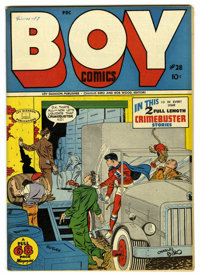 Boy Comics #28 Mile High pedigree (Lev Gleason, 1946) Condition: NM-. Charles Biro cover. Yankee Longago ends. Overstree...