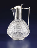 Silver Holloware, British:Holloware, A Victorian Silver and Cut Crystal Claret Jug. Martin Hall &Co., Ltd., Sheffield, England. 1889-1890. Silver, cut crystal...