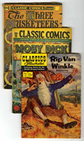 "Golden Age (1938-1955):Classics Illustrated, Classics Illustrated Group (Gilberton, 1941-51) Condition: AverageGD. Includes #1 (""The Three Musketeers"", HRN 28), #3 (""Th...(Total: 14 Comic Books)"