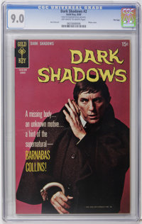 Dark Shadows File Copies #2, 15, and 21 CGC Group (Gold Key, 1969-73). Includes CGC VF/NM 9.0 copies of #2 (photo cover)...