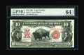 Large Size:Legal Tender Notes, Fr. 114 $10 1901 Legal Tender PMG Choice Uncirculated 64 EPQ....
