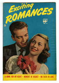 """Exciting Romances #2 Davis Crippen (""""D"""" Copy) pedigree (Quality, 1950) Condition: VF-. Photo cover. Overstreet..."""