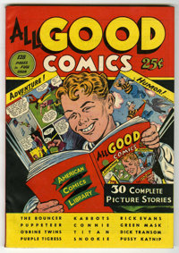 Fox Giants - All Good Comics - Mile High pedigree (Fox Features Syndicate, 1944) Condition: NM. This thick Edgar Church...