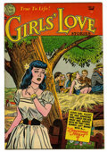 "Golden Age (1938-1955):Romance, Girls' Love Stories #23 Davis Crippen (""D"" Copy) pedigree (DC,1953) Condition: VF+. Overstreet 2006 VF 8.0 value = $64; VF/..."
