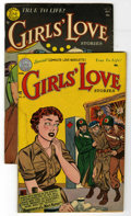 """Golden Age (1938-1955):Romance, Girls' Love Stories #18-19 Group - Davis Crippen (""""D"""" Copy)pedigree (DC, 1952). Includes issues #18 (GD) and 19 (Carmine In...(Total: 2 Comic Books)"""