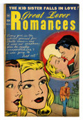 "Golden Age (1938-1955):Romance, Great Lover Romances #6 Davis Crippen (""D"" Copy) pedigree (TobyPublishing, 1952) Condition: FN/VF. Harvey Kurtzman art. Ove..."