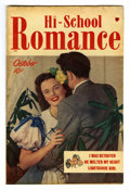 "Golden Age (1938-1955):Romance, Hi-School Romance #1 Davis Crippen (""D"" Copy) pedigree (Harvey,1949) Condition: FN. Photo cover. Overstreet 2006 FN 6.0 val..."