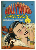 """Golden Age (1938-1955):Romance, Hollywood Secrets #1 Davis Crippen (""""D"""" Copy) pedigree (Quality,1949) Condition: FN+. Bill Ward cover and art. Overstreet 2..."""