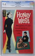 Silver Age (1956-1969):Adventure, Honey West #1 File Copy (Gold Key, 1966) CGC NM 9.4. Photo cover of Anne Francis as Honey West. Jack Sparling art. Photo pin...