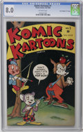 "Golden Age (1938-1955):Funny Animal, Komic Kartoons #1 Davis Crippen (""D"" Copy) pedigree (Timely, 1945)CGC VF 8.0 Off-white pages. Overstreet 2006 VF 8.0 value ..."