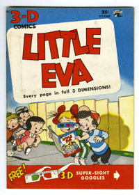 Little Eva 3-D #1 (St. John, 1953) Condition: NM-. Glasses included. Infinity cover. Based on this copy's provenance, we...