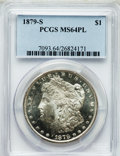 Morgan Dollars: , 1879-S $1 MS64 Prooflike PCGS. PCGS Population (1807/1397). NGCCensus: (1946/1345). Numismedia Wsl. Price for problem fre...