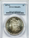 Morgan Dollars: , 1879-S $1 MS64 Prooflike PCGS. PCGS Population (1803/1393). NGCCensus: (1942/1345). Numismedia Wsl. Price for problem fre...