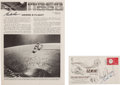 Explorers:Space Exploration, Gemini 5 Crew-Signed Launch Cover with Cooper-Signed NASA FactSheet. ... (Total: 2 Items)