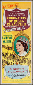 """Movie Posters:Documentary, A Queen is Crowned (Rank, 1953). Insert (14"""" X 36""""). Documentary.. ..."""
