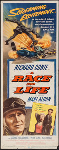 """Movie Posters:Sports, A Race for Life (Lippert, 1954). Insert (14"""" X 36""""). Sports.. ..."""