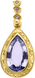 Estate Jewelry:Pendants and Lockets, Sapphire, Gold Pendant, Loree Rodkin. ...