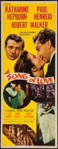 "Movie Posters:Romance, Song of Love (MGM, 1947). Insert (14"" X 36""). Romance.. ..."