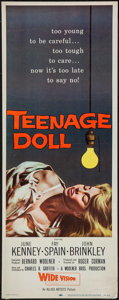"Movie Posters:Bad Girl, Teenage Doll (Allied Artists, 1957). Insert (14"" X 36""). Bad Girl....."