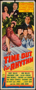 "Movie Posters:Comedy, Time Out for Rhythm (Columbia, 1941). Insert (14"" X 36""). Comedy.. ..."