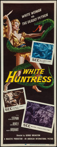 "Movie Posters:Adventure, White Huntress (American International, 1957). Insert (14"" X 36""). Adventure.. ..."
