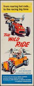 "Movie Posters:Exploitation, The Wild Ride (Filmgroup, Inc., 1960). Insert (14"" X 36"").Exploitation.. ..."