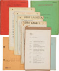 Movie/TV Memorabilia:Documents, A Stan Laurel Personally-Owned Collection of Scripts,1920s-1940s.... (Total: 2 Items)