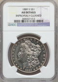 Morgan Dollars: , 1889-S $1 -- Improperly Cleaned -- NGC Details. AU. NGC Census:(62/4926). PCGS Population (141/7685). Mintage: 700,000. Nu...