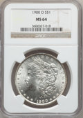 Morgan Dollars: , 1900-O $1 MS64 NGC. NGC Census: (18150/7586). PCGS Population(16138/6738). Mintage: 12,590,000. Numismedia Wsl. Price for ...