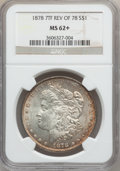 Morgan Dollars: , 1878 7TF $1 Reverse of 1878 MS62+ NGC. NGC Census: (1917/8419).PCGS Population (1929/6958). Mintage: 4,900,000. Numismedia...