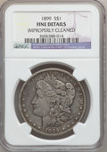 Morgan Dollars: , 1899 $1 -- Improperly Cleaned -- NGC Details. Fine. NGC Census:(13/8260). PCGS Population (16/11018). Mintage: 330,846. Nu...