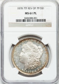 Morgan Dollars: , 1878 7TF $1 Reverse of 1879 MS61 Prooflike NGC. NGC Census:(15/134). PCGS Population (15/171). Numismedia Wsl. Price for ...