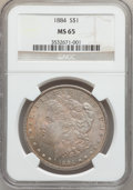 Morgan Dollars: , 1884 $1 MS65 NGC. NGC Census: (1872/280). PCGS Population(2038/445). Mintage: 14,070,875. Numismedia Wsl. Price forproble...