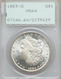 Morgan Dollars, 1883-O $1 MS64 PCGS. NGC Census: (43042/10689). PCGS Population(35367/7943). Mintage: 8,725,000. Numismedia Wsl. Price for...