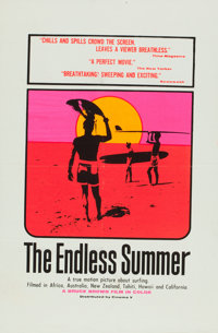 "The Endless Summer (Cinema 5, 1966). Flat-Folded One Sheet (27"" X 40.5"") Day-Glo Style"