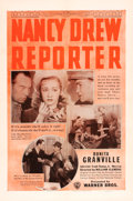 "Movie Posters:Mystery, Nancy Drew, Reporter (Warner Brothers, 1939). One Sheet (27"" X41"").. ..."