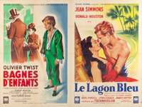 "The Blue Lagoon/Oliver Twist (Rank, 1949). French Affiche Uncut Printer's Proofs (2) (47"" X 62"")"