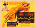 "Movie Posters:Musical, You Were Never Lovelier (Columbia, 1942). Half Sheet (22"" X 28"") Style B.. ..."