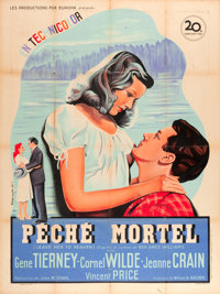 "Leave Her to Heaven (20th Century Fox, 1947). Printer's Proof French Grande (47"" X 63"")"