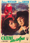 "Movie Posters:Film Noir, Out of the Past (RKO, 1947). Italian 2 - Foglio (39"" X 55"").. ..."