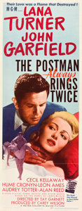 "Movie Posters:Film Noir, The Postman Always Rings Twice (MGM, 1946). Insert (14"" X 36"")....."
