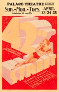 "Movie Posters:Musical, 42nd Street (Warner Brothers, 1933). Window Card (14"" X 22"").. ..."