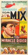 "Movie Posters:Serial, The Miracle Rider (Mascot, 1935). Stock Three Sheet (41"" X 79"")....."