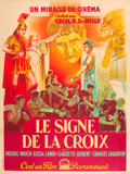 "Movie Posters:Drama, The Sign of the Cross (Paramount, R-1947). French Grande (47"" X63"").. ..."