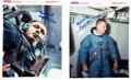 Autographs:Celebrities, Apollo 8: Two Color Training Photos Signed by Frank Borman....(Total: 2 Items)