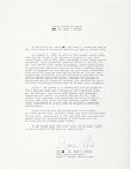 Autographs:Celebrities, Donn Eisele Typed Biography Signed. ...