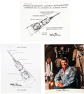 Autographs:Celebrities, Apollo 7: Three Items Signed by Wally Schirra.... (Total: 3 Items)